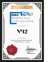Build 2018 Real Esatate and Property Awards Certificate